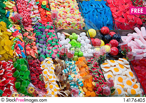 Free Multocolored Sweet Candy Royalty Free Stock Photo - 14176405