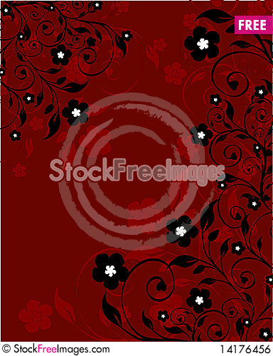 Free Floral Ornament Royalty Free Stock Image - 14176456