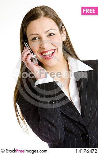 Free Telephoning Businesswoman Stock Photography - 14176472
