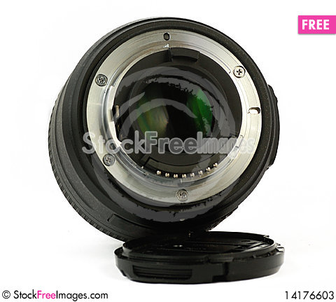 Free 35mm Prime Dslr Lens Isolated Rear View Stock Photos - 14176603