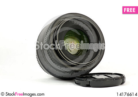 Free 35mm Prime Dslr Lens Isolated Angle View Stock Images - 14176614