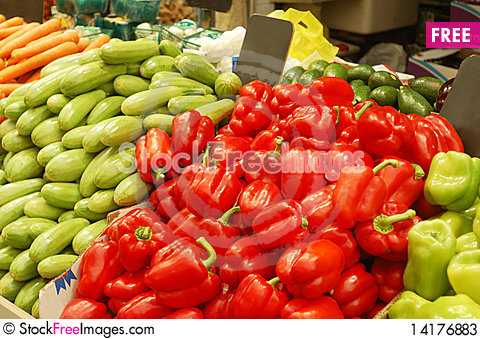 Free Close Up Of Vegetables On Market Stand Stock Photos - 14176883