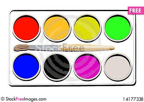 Free Watercolours Royalty Free Stock Photos - 14177338