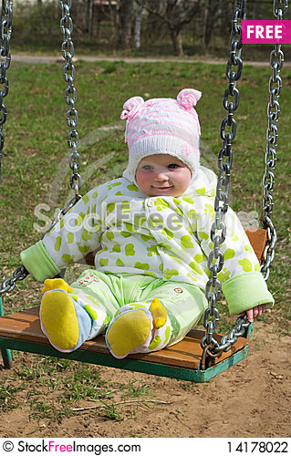 Free Girl On A Swing Stock Photography - 14178022