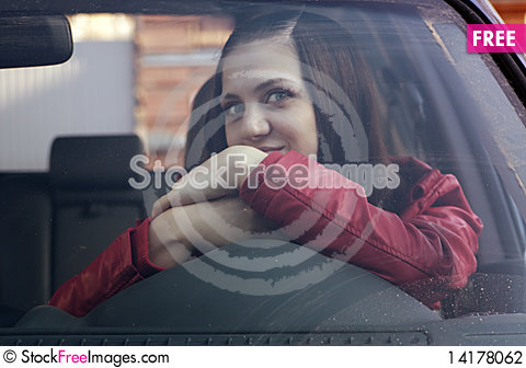 Free Attractive Young Woman In Automobile Stock Photography - 14178062