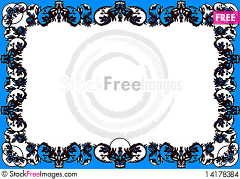 Free Black Decorative Frame Stock Images - 14178384