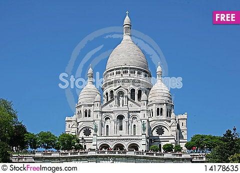 Free Basilique Du Sacre-Coeur Royalty Free Stock Photo - 14178635