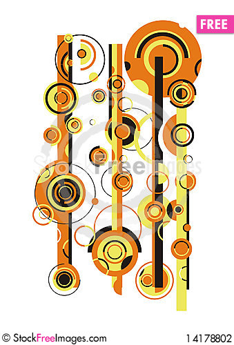Free Yellow And Black Circles Stock Photography - 14178802
