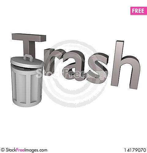 Free Trash Text 3d Stock Photo - 14179070