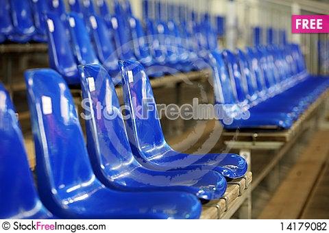 Free Blue Seats Stock Photography - 14179082