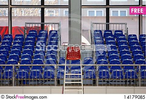 Free Blue Seats Royalty Free Stock Photo - 14179085