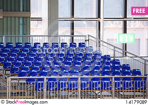 Free Blue Seats Royalty Free Stock Images - 14179089