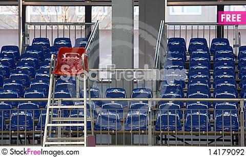 Free Blue Seats Stock Photography - 14179092