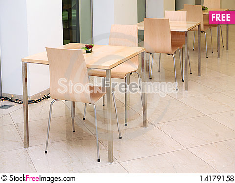 Free Chairs And Tables Royalty Free Stock Photos - 14179158