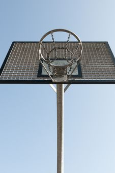 Free Outdoor Metal Basketball Hoop Stock Photography - 14170112