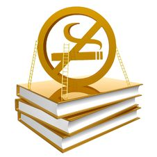 Free Golden Books About How To Quit Smoking Stock Photo - 14170240