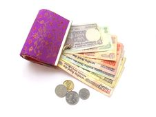 Free Indian Money And Purse Royalty Free Stock Image - 14170356