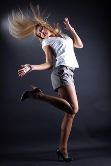 Free Woman Modern Dancer Stock Photography - 14170452