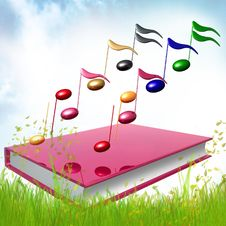 Colorful Music Notes Icon Illustration Stock Photography