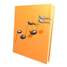 Music Notes And Golden Book Reference Icon Stock Photo