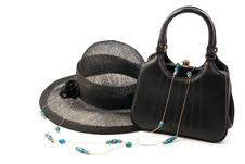 Vintage Hat And Handbag Royalty Free Stock Image