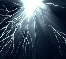 Free Electric Flash Of Lightning On A Dark Stock Photography - 14171512