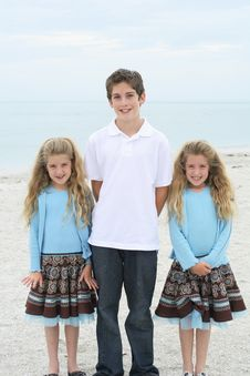 Free Beautiful Children On The Beach Stock Photo - 14173120