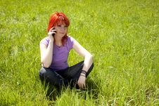 Young Woman In The Middle Of Nature Royalty Free Stock Photo