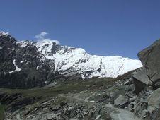 Way To The Himalayan Peak Royalty Free Stock Image