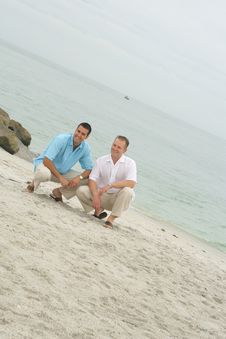 Free Handsome Men On The Beach Stock Photography - 14173342