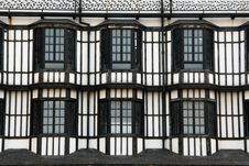 Free Windows Of A British Style Building Stock Photography - 14173792