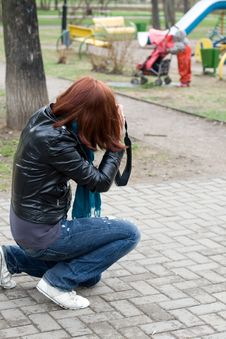 Free Photographer At Work Royalty Free Stock Photography - 14173987