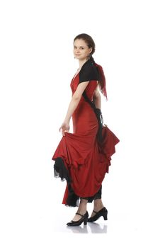 Beautiful Flamenco Dancer. Dancing Contest. Stock Image