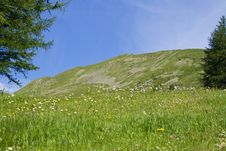 Mountain Landscape On Alps With Beautiful Panorama Royalty Free Stock Photo