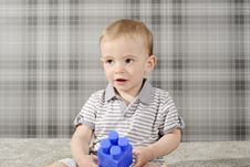 Free Boy With Toys Royalty Free Stock Images - 14174409