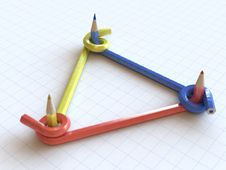Free Tied Pencils Royalty Free Stock Photo - 14174455