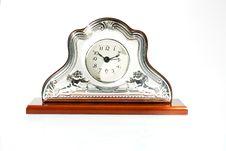 Free Elegant Table Clock Over White Background Stock Photo - 14174600