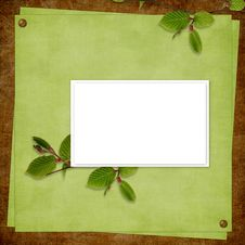 Free Card For The Holiday  With Plant Stock Photography - 14174822