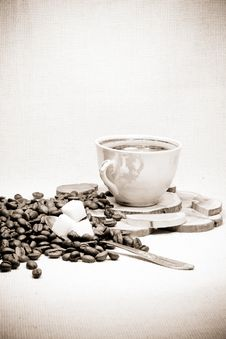 Black And White Of Coffee