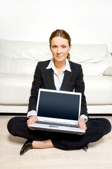 Free Business Woman With Laptop Stock Image - 14175381