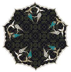 Free Traditional Ottoman Turkish Tile Illustration Royalty Free Stock Image - 14175786