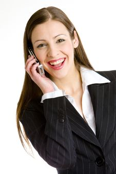 Free Telephoning Businesswoman Stock Photography - 14176472
