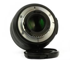 35mm Prime Dslr Lens Isolated Rear View Stock Photos