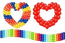 Garlands Of Balloons. Vector Stock Image