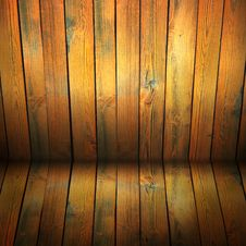 Old Wooden Interior Stock Image