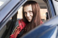Free Attractive Young Woman In Automobile Stock Images - 14178244