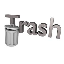 Free Trash Text 3d Stock Photo - 14179070