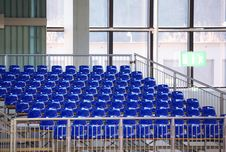 Blue Seats Royalty Free Stock Images