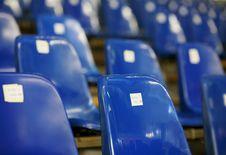 Blue Seats Royalty Free Stock Photo