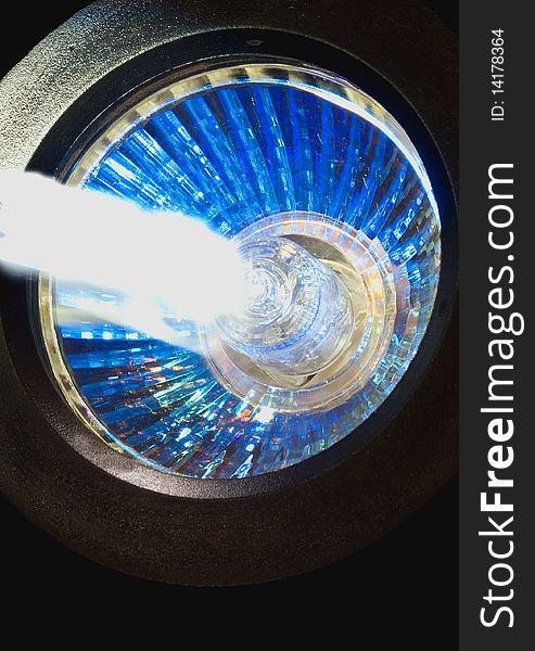 Close-up of light and light beam